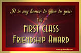 First class friendship award